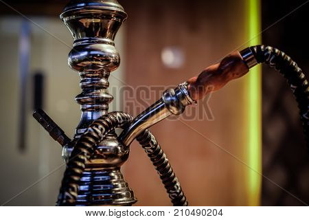 hookah shisha weed smoke on background .