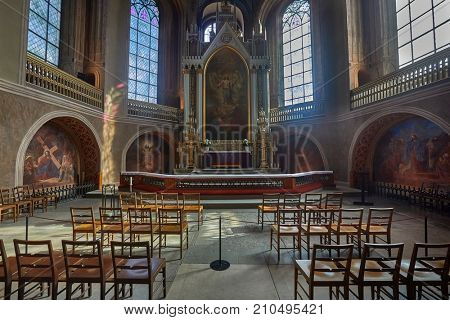 Cathedral interior with lots of decoration. Turku, Finland