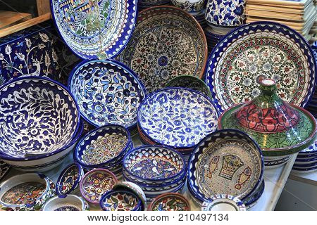 Middle eastern style merchandise sold in Israel