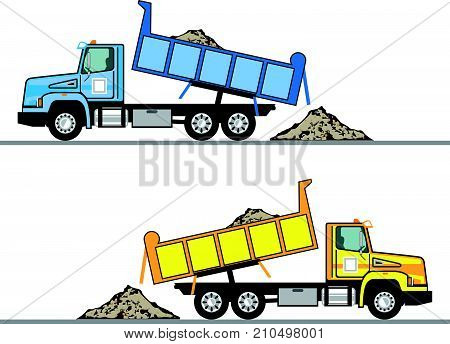 Dump truck vector illustration clip-art image eps