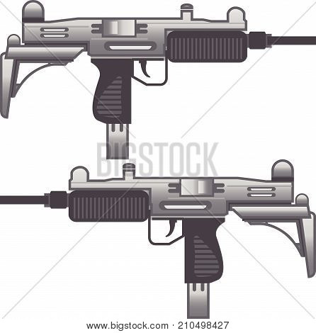 Uzi Machine gun vector illustration clip-art image eps