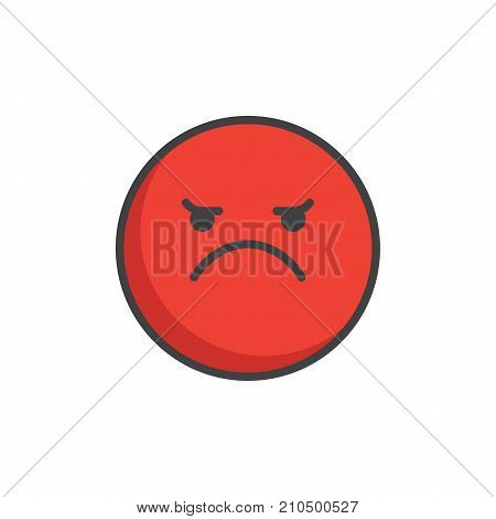 Red Angry Face Vector Photo Free Trial Bigstock