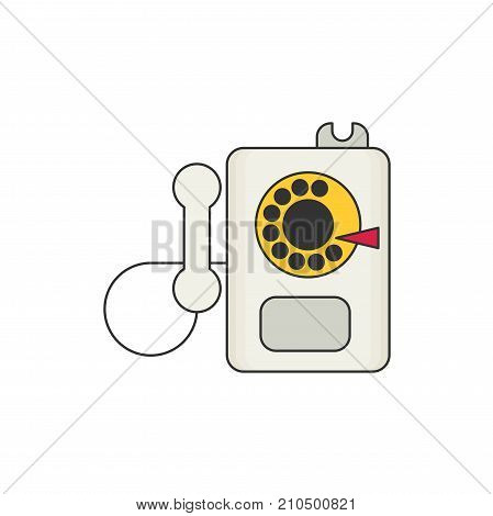 payphone flat vector icon isolated on white background