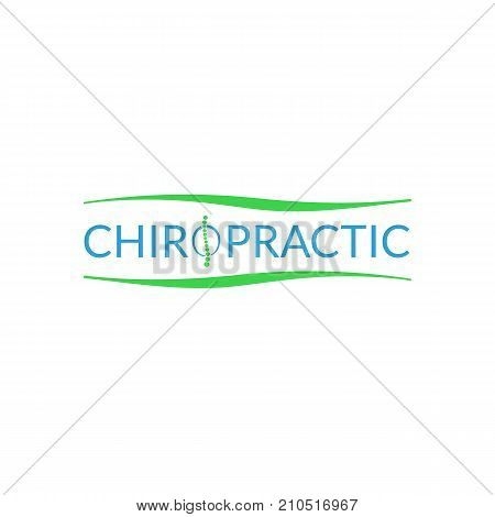 Alternative chiropractic medicine logo illustration isolated on background poster