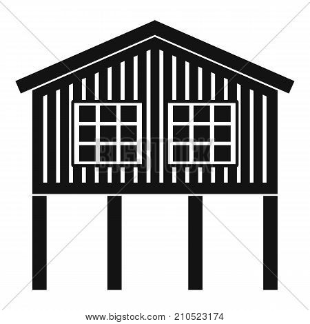 Stilt house icon. Simple illustration of stilt house vector icon for web