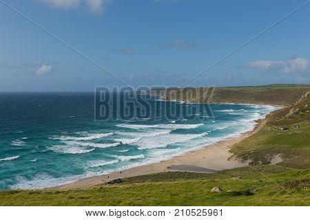 Sennen Cove Cornwall beach and coast near Lands End uk