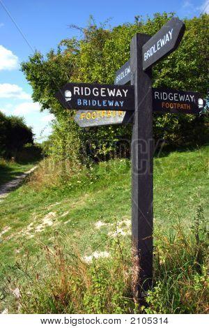 Ridgeway Footpath Sign