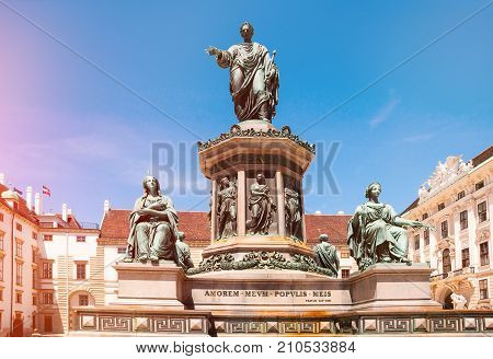 Vienna. Austria. Monument to Emperor Franz I at the Hofburg Palace in Vienna