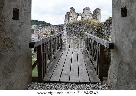 Castle Rabi in western Bohemia, Czech republic