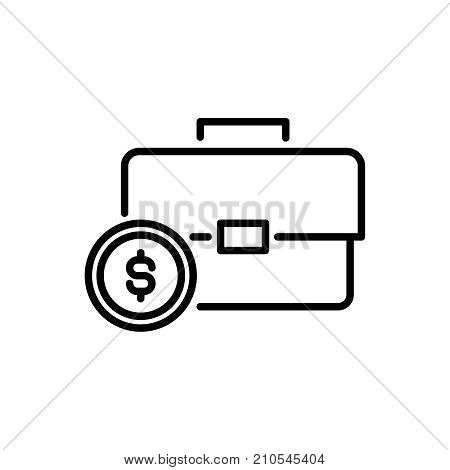 Modern earning line icon. Premium pictogram isolated on a white background. Vector illustration. Stroke high quality symbol. earning icon in modern line style.