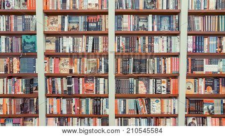 Eskisehir, Turkey - August 11, 2017: Novels On Display In D&r Bookstore.