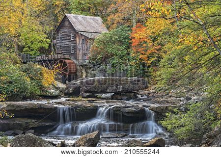 Glade Creek Grist Mill At Babcock State Park In West Virginia