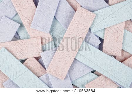 Colorful chewing gum background with textured surface