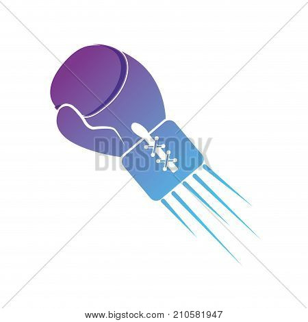 contour gloves to play boxing sport vector illustration