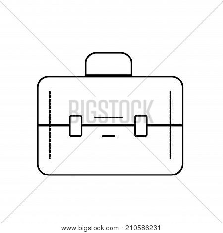 line elegant briefcase to save business documents vector illustration