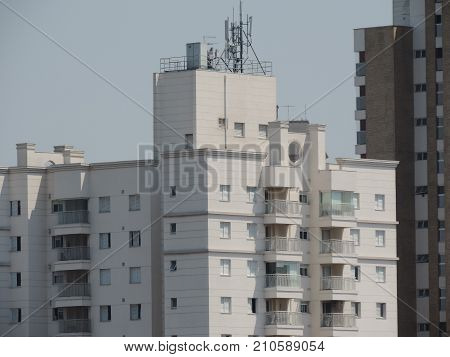 Typical apartment building in Santo Andre city, Brazil