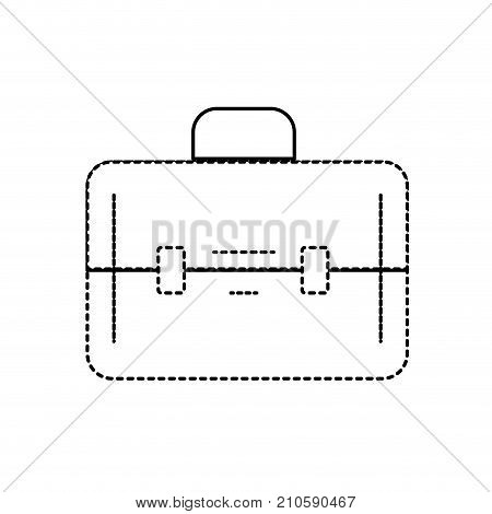 dotted shape elegant briefcase to save business documents vector illustration
