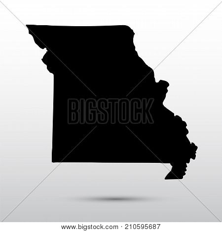 Map of the U.S. state of Missouri