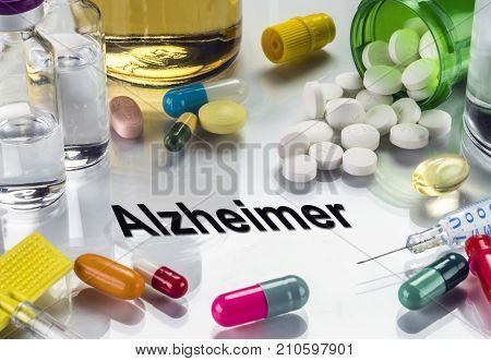 Alzheimer, Medicines As Concept Of Ordinary Treatment, Conceptual Image