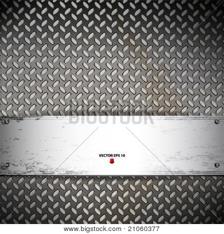 Fluted metal background. Vector Illustration