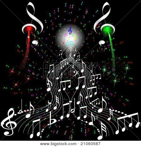firework musical notes