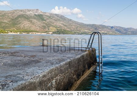 Steps Down Into The Peljesac Channel