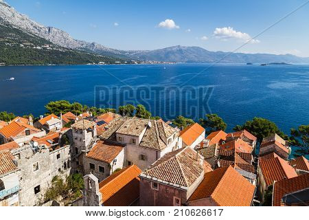 Looking Out Across The Peljesac Channel