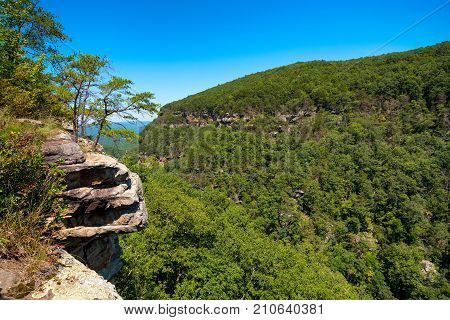 Scenic view in Cloudland Canyon State Park in Georgia near Chattanooga