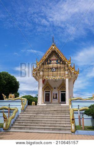 Koh Samui Island, Thailand - June 26, 2017: Temple Wat Khunaram on Koh Samui in Thailand