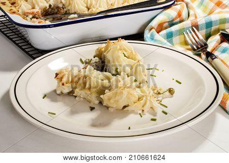 fine dinning ireland irish home made fish pie on a plate