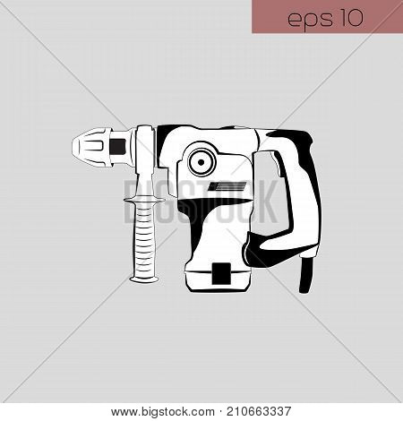 vector illustration icon puncher on gray background