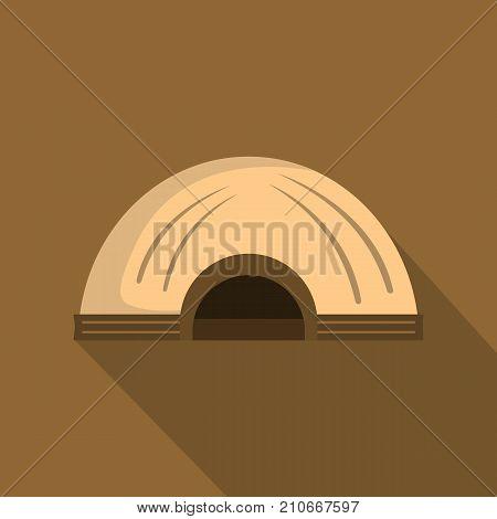 Aboriginal dwelling icon. Flat illustration of aboriginal dwelling vector icon for web