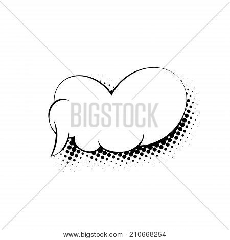 Speech Bubble Isolated on White Background in the Sixties Style Vector Illustration