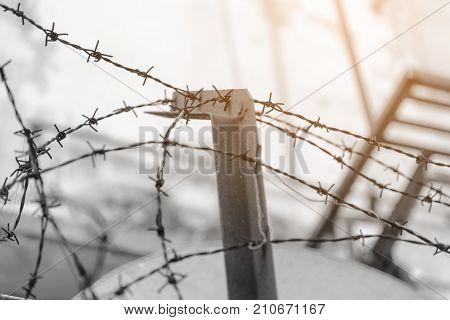 Barbed Wire Fence Lack - Symbol Of Danger
