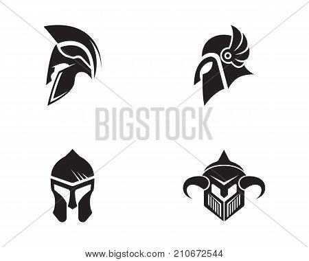 Spartan Helmet Logo Template