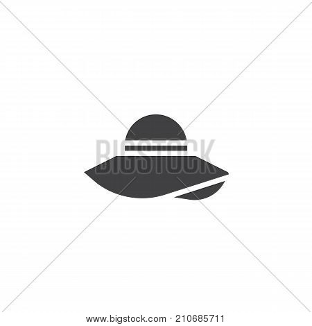 Pamela hat icon vector, filled flat sign, solid pictogram isolated on white. Symbol, logo illustration.