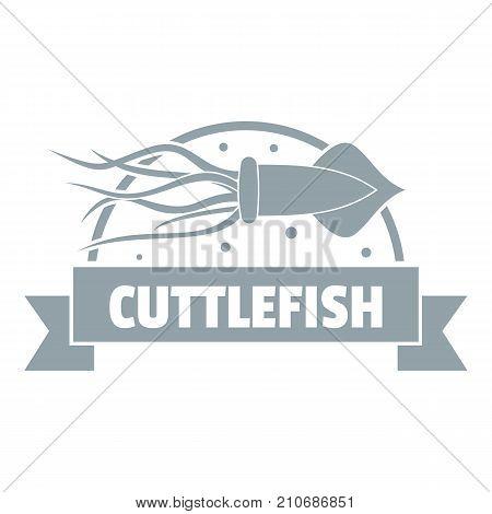 Cuttlefish shop logo. Simple illustration of cuttlefish shop vector logo for web