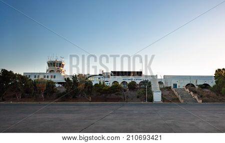 International Airporti Of Santorini Island