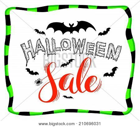 Halloween Sale lettering with bats for halloween promotion.