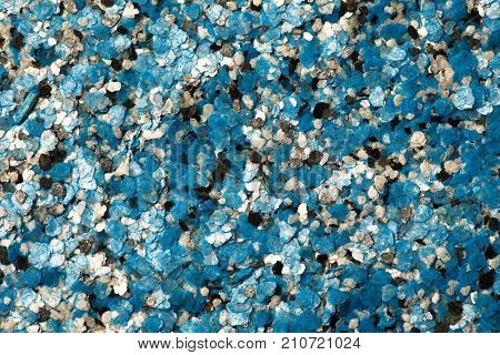 decorative shell texture, blue fractions