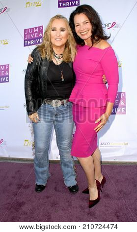 Melissa Etherridge and Fran Drescher arrive at the taping of