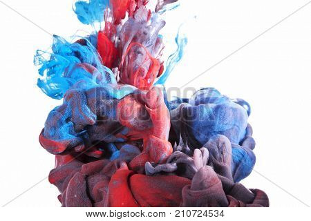 paint color cloud in water abstract background