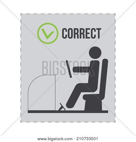 Correct Driver Instruction. Correct And Incorrect Posture For Driver