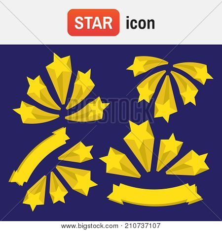 Burst Star. Stars Burst Elements. Stars Burst Vector Set