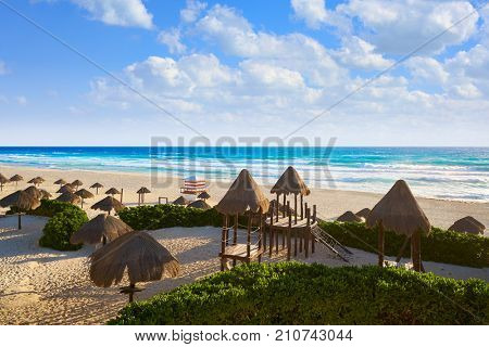 Cancun Delfines Beach at Hotel Zone of Mexico