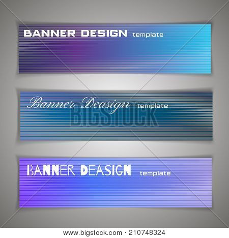 Colorful Halfton Abstract Corporate Banner Template, Infographic Horizontal Advertising Business Ban