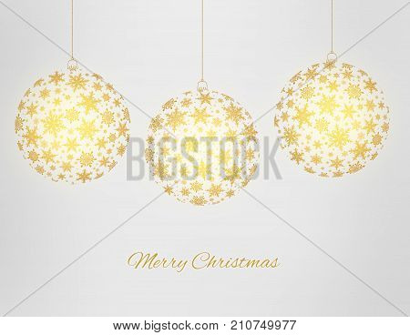 Decorative Merry Christmas Greeting Card