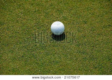 Golf Ball On Fairway Green
