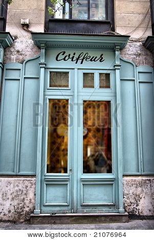 Typically parisian Hairdressing salon (coiffeur is not a brand name, it just means Hairdresser in French, so no copyright issue)