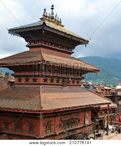 Clay Nepali building in the city of Bhaktapur